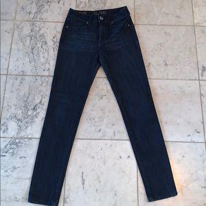 DL 1961 dark blue denim, skinny jeans size 25